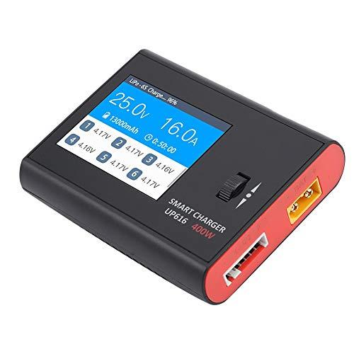 Dilwe Caricabatterie Modello, Alta Potenza UP616 400W Caricabatterie Bilanciato Intelligente per Batteria LiPo Universale Modello R