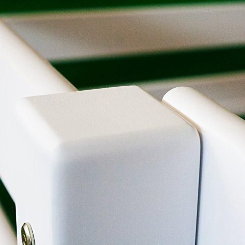 Betten-ABC Bubema Maja Kinder Etagenbett/Hochbett, Buche massiv, mit oder ohne Rutsche, Grösse Ohne Rutsche – Härtegrad Weiß lackiert