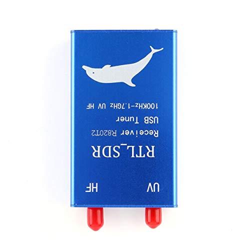 RTL SDR USB Tuner Receiver RTL2832U R820T2 100KHz-1 7GHz UHF UV HF AM FM Radio Color Blue