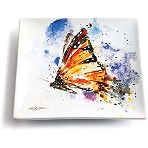 Big Sky cesellatori Monarch Butterfly Snack Plate