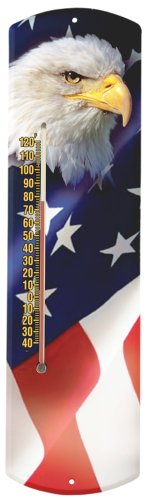 Heritage USA von morco 375be-flag Bald Eagle mit Flagge oder Outdoor-Thermometer, 20 (Heritage Eagle)