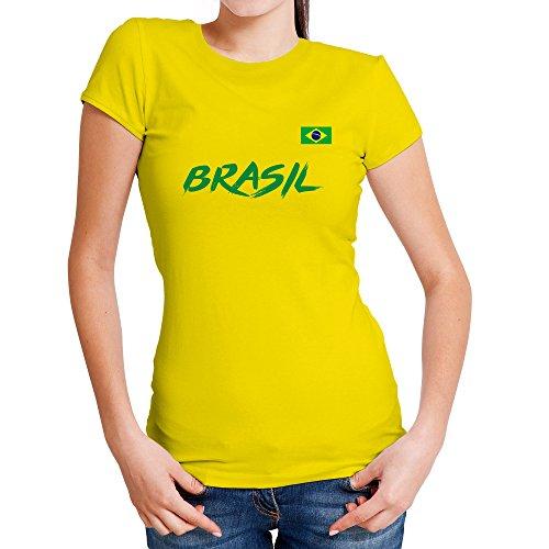 Lolapix Camiseta seleccion de fútbol Personalizada con Nombre y número.  Camiseta de algodón para Mujer 79f03f7741253