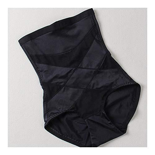 XIAOXINGXING Dünnschliffmaschen Atmungsaktiv Postpartale Bauchunterwäsche Hohe Taille Bauchformung Hosen Hüften Abnehmen Strapper Former (Color : Black, Size : XXL) - Mikrofaser-former