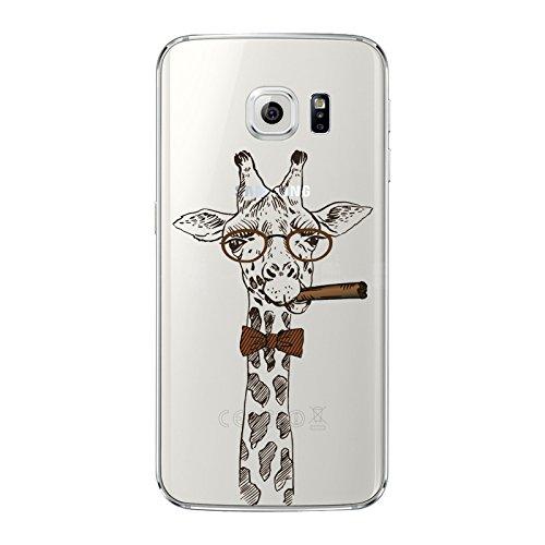 Galaxy S6 NOVAGO Coque gel souple avec impression fantaisie pour Samsung Galaxy S6 (girafe)