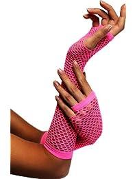 Gants Longs Résille Rose (Long Fishnet Gloves Pink)