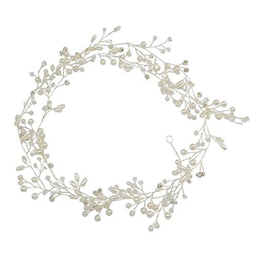 Homyl Vintage Silber farbig Hochzeits Haarschmuck Kopfbedeckungen Brautkleid Stirnband