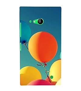 printtech Carnival Balloon Back Case Cover for Nokia Lumia 730::Microsoft Lumia 730