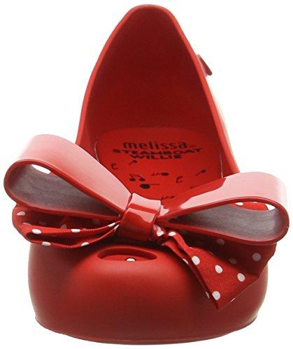 Melissa Ultragirl Minnie Mouse Bow, Peep-Toe femme Rouge