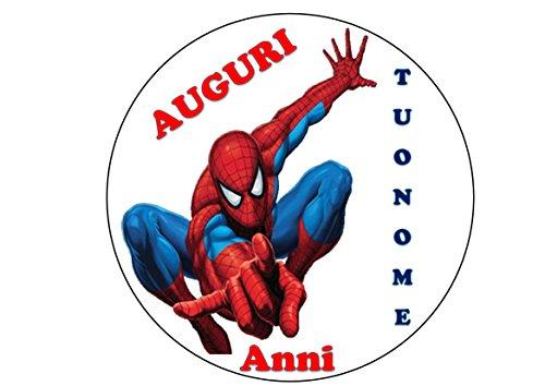 Spiderman Home Coming Herren Spinne Waffel in Ostia für Kuchen personalisierbar-Kit N ° 3cdc- (1Waffel in Ostia Abmessungen Folio A4210× 297mm)