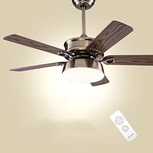 Ventilador de techo ventilador luz luz LED Inicio simplicidad Retro Salón candelabros...