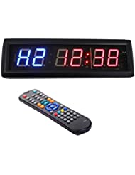 4,6cm LED Intervall Workout Timer Countdown Stoppuhr für Garage Crossfit Training