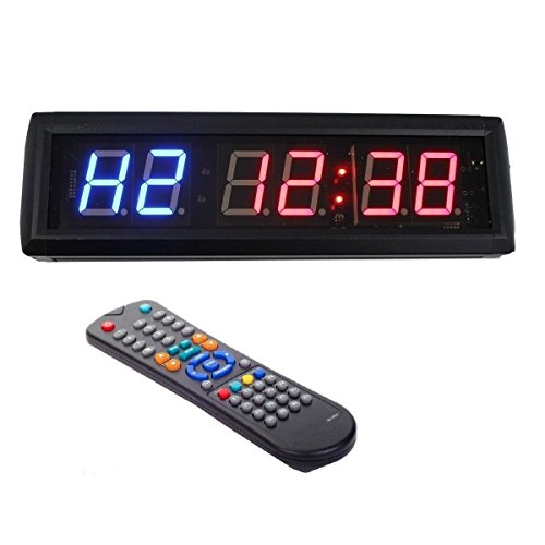 4,6 cm LED Intervall Workout Timer Countdown Stoppuhr für Garage Crossfit Training