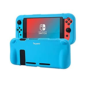 Nintendo Switch Hülle,Teyomi Nintendo Switch Schutzhülle aus Silikon,Kompatibel mit Nintendo Switch Case(Black)