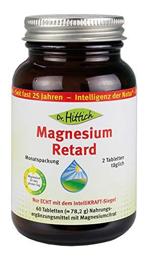 Magnesium Retard - 60 Tabletten - Versorgt durch die Retard-Form den Körper rund um die Uhr mit organischem Magnesium. Von Dr. Hittich