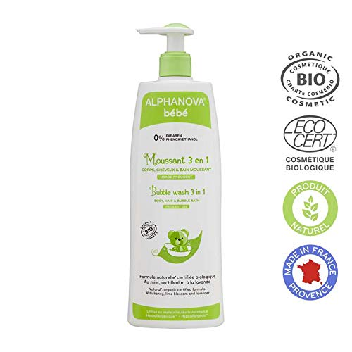 Alphanova Bebe-Organic 3 In 1 Baby Bubble Wash 500ML