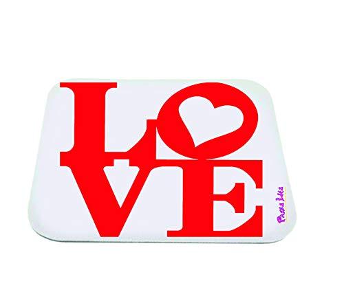 pazza idea Mauspad mit Aufschrift Love Idee Valentinstag Herz Liebe