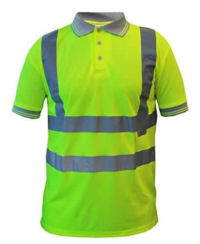 pro-tect ® Hi Vis Zip nonzip Hoodie Gr. XXXXL, Tshirt Shortsleeve Yellow