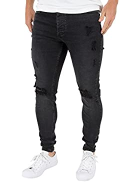 Kings Will Dream Uomo Jeans Ripper Hipster Ripped, Nero