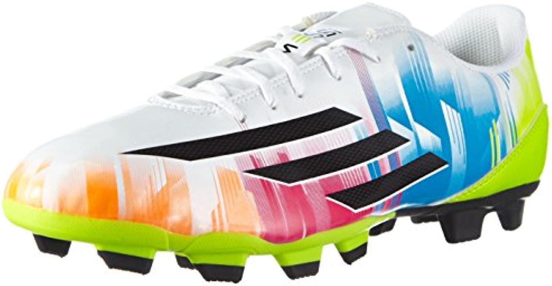 Adidas F5 TRX FG Lionel Messi - Zapatillas de fútbol para hombre weiß / lime / blau Talla:8.5 UK - 42.2/3 EU
