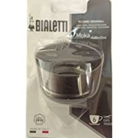 Bialetti 0800110 Blister Entonnoir Moka Induction 6 Tasses, Aluminium, Inox, 12 x 8,5 x 19 cm