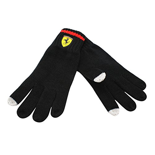 Ferrari Black Knit Gloves