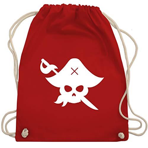 Karneval & Fasching Kinder - Pirat Kostüm Fasching - Unisize - Rot - WM110 - Turnbeutel & Gym ()