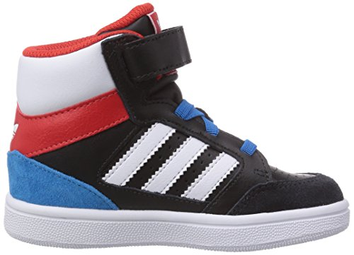 adidas - Pro Play, Sneakers, unisex Nero (Core Black/Ftwr White/Red)