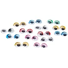 MP PM008C - Set de ojos móviles redondos adhesivos con parpado en color, ...