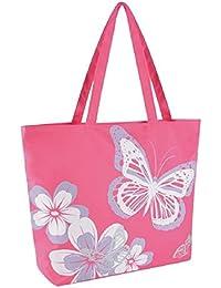 660c64b28d Butterfly Design Shoulder   Beach   Shopping Bag with Zip Top