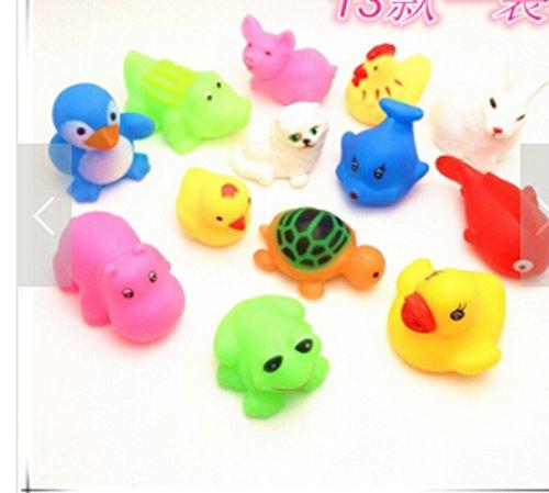 Lamdoo 8 Teile/los Mixed Verschiedene Tier Badespielzeug Kinder Waschen Bildung Spielzeug Weichen Gummi Float Presse Sound Baby Waschen Badespielzeug RTU (8 stücke)
