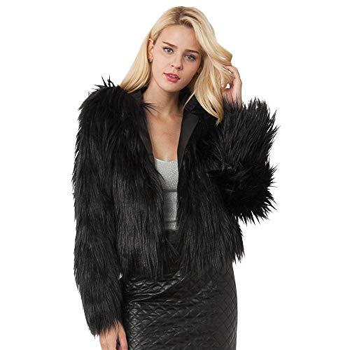 Yazidan Damen Mit Kapuze Parka Warm Kunstpelz Deckschicht Jacke Winter Solide Mantel Pure Farbe...