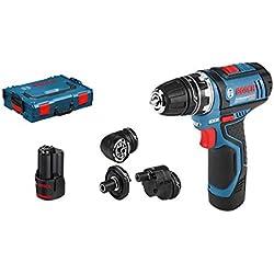 Bosch Professional Perceuse-Visseuse Sans Fil GSR 12V-15 FC (2 batteries 2.0 Ah, 12 V, Ø de Vissage Max. : 7 mm, L-Boxx + pack d'accessoires)