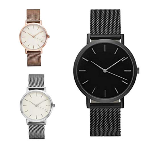 2327fdf89fdc Simple Ultra-thin Stainless Steel Strap Watch Men And Women Wrist Watch  Quartz Watch Fashion