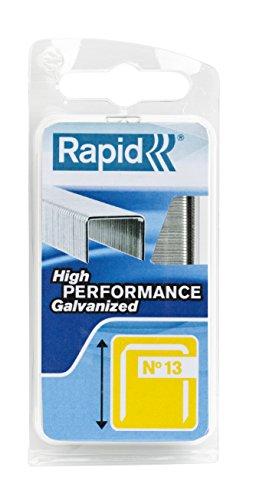 Rapid, 40109520, Agrafes en fil fin N°13, Longueur 8mm, 1650 pièces, Pour le textile et la décoration, Fil galvanisé, Haute performance