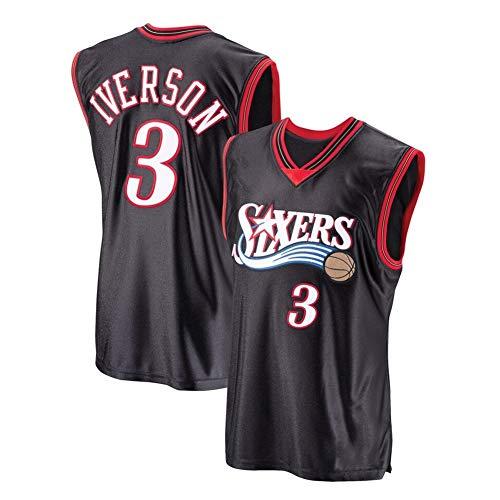 Alle Iverson # 3 Basketball Männer Jersey-Sport-Fan-Trikots T-Shirt A-XXL