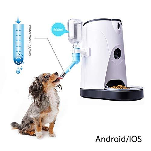 V.JUST Cat/Dog Dispensador Automático De Alimentos para Mascotas Smart Pet Feeder Pet Food Machine con Grabación De Audio Y Video para iOS Android