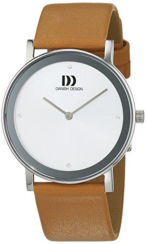 Montre Femmes Danish Design Quartz - Affichage Analogique bracelet Cuir Beige et Cadran Argent 3324575