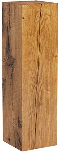 GREENHAUS Holzsäule Eiche Massiv 20x20x70 cm Handarbeit und Massivholz aus Deutschland Dekosäule Holzklotz Holzblock