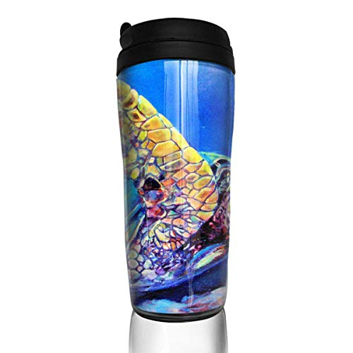 Travel Coffee Mug Ocean Cute Sea Turtle 12 Oz Spill Proof Flip Lid Water Bottle Environmental Protection Material ABS