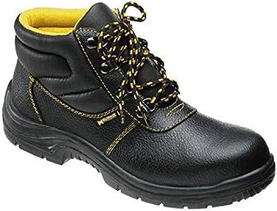 Wolfpack 15018040 - Botas seguridad piel, tamaño 44, color negro