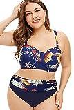 Femmes Beachwear Rembourré Push Up Taille Haute 2 Pieces Maillot De Bain Grande...