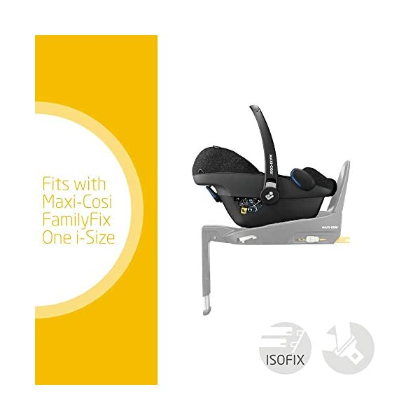Maxi-Cosi Pebble Plus Baby Car Seat Group 0+, ISOFIX Car Seat, i-Size, 0-12 m, 0-13 kg, 45-75 cm, Nomad Black Maxi-Cosi Baby car seat, suitable from birth to approximate 1 year (0-13 kg, 45-75 cm) Fits with compatible Maxi-Cosi base unit for ISOFIX installation i-Size for enhanced safety and optimal protection against side impacts 2