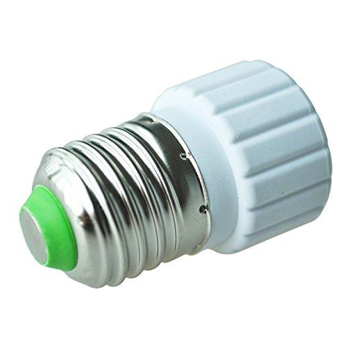 TOOGOO (R) Convertidor Adaptador de Bombilla Lampara LED CFL E27 a GU10 Base Extensible Enchufe de Tornillo