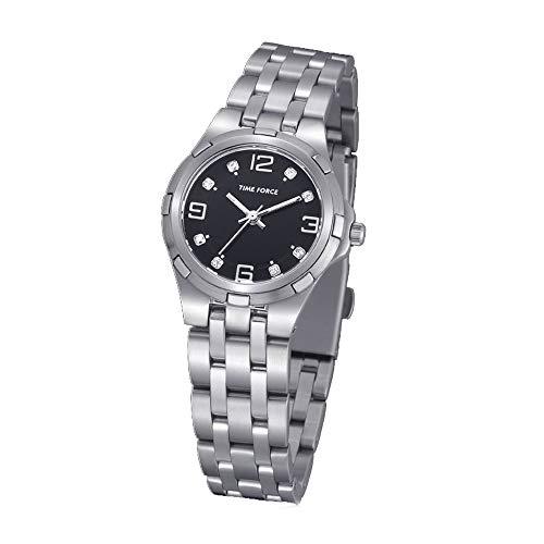 Time Force Reloj Analógico para Mujer de Cuarzo con Correa en Acero Inoxidable TF4018L01M