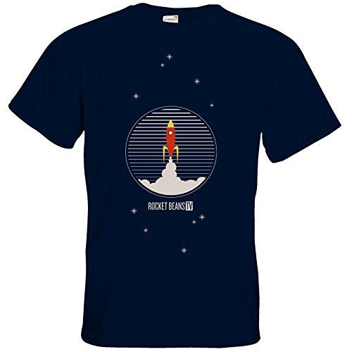 getshirts - Rocket Beans TV Official Merchandising - T-Shirt - Rakete Navy