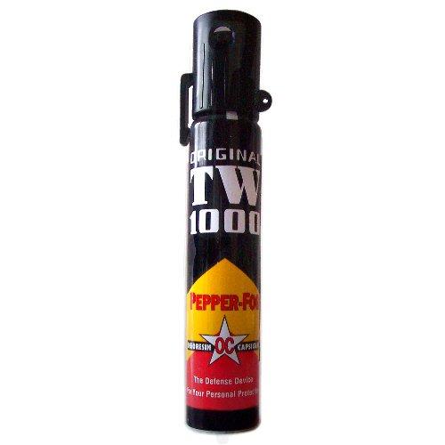 Hoernecke Pfefferspray Pfefferspray TW1000 (40 ml/ Nebel) Schmale Dose inkl. Clip, schwarz, 40.0, 130101