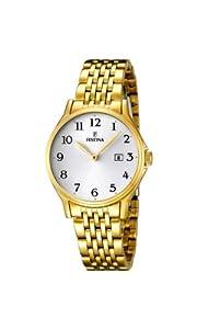 Festina 0 - Reloj de cuarzo para mujer, con correa de acero inoxidable, color dorado de Festina