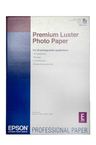 Epson C13S042123 Premium luster photo paper inkjet 250g/m2 A2 25 Blatt Pack