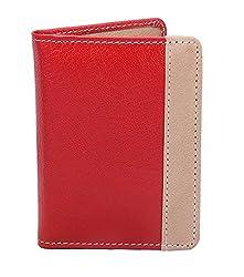 JMD Genuine Leather Red Credit Card Holder - 22 Card Slots