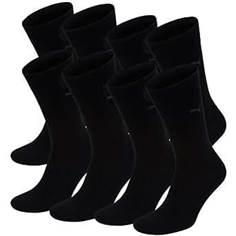 PUMA Herren Casual Socken Classic 8er Pack, Größe:39-42;Farbe:black